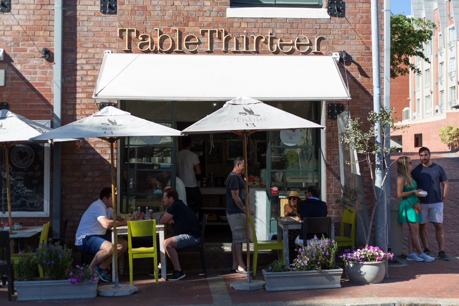 Storefront of Table Thirteen restaurant