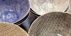A collection of decorative bowls.