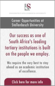 Career opportunities at Stellenbosch University banner