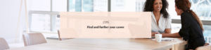 Jobs - Find and further your career banner