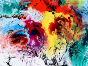 Abstract rainbow art